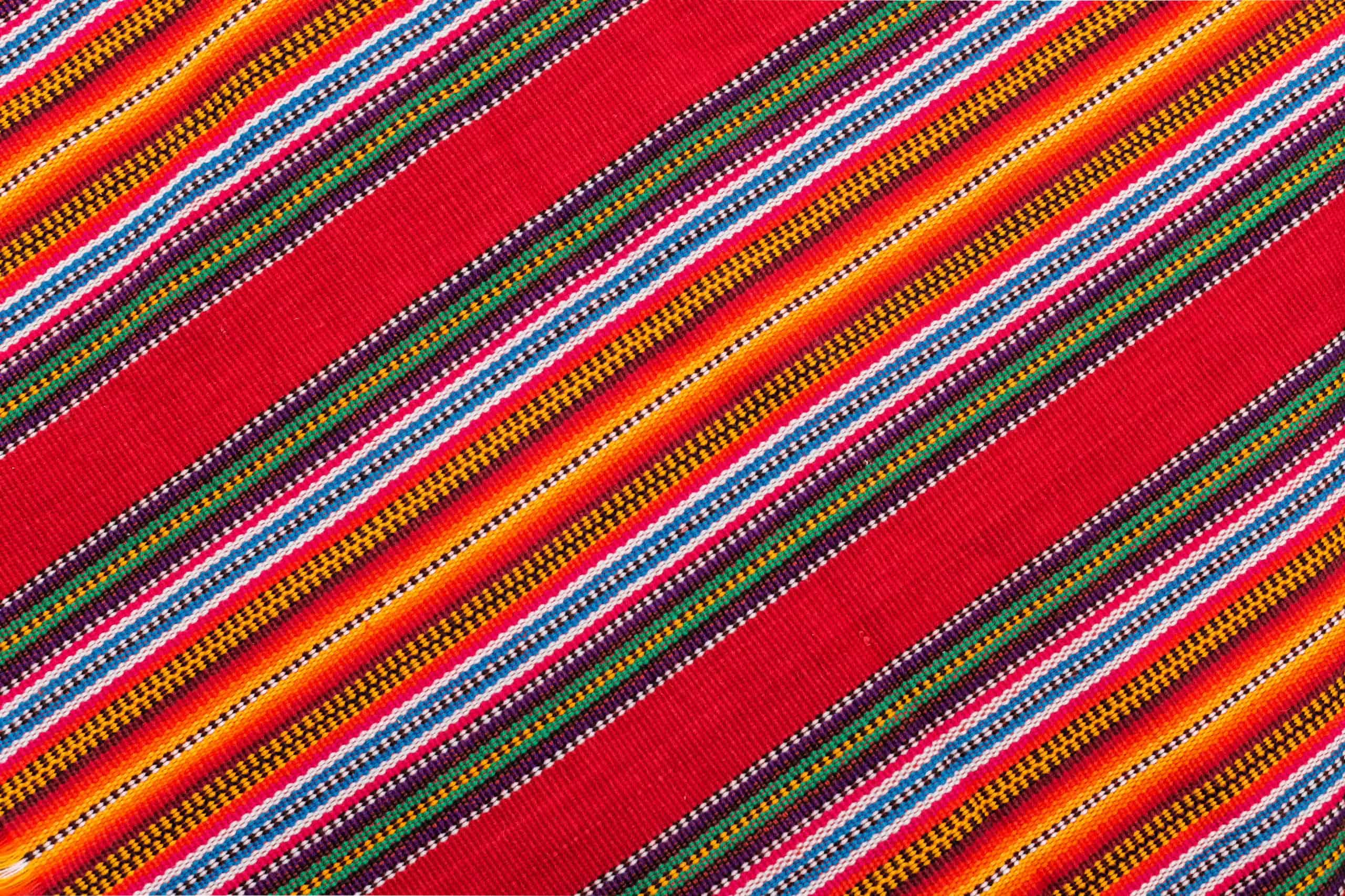 A colorful woven textile pattern.