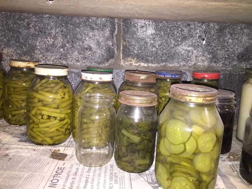 Jars of pickles