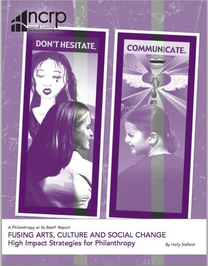 """A cover of a report titled """"Fusing Arts, Culture, and Social Change""""."""