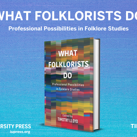 """Cover design for the book """"What Folklorists Do""""."""