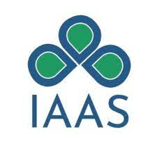 a stylized 3-leaf clover with IAAS below